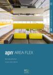 apn Area Flex Broschüre präsentiert alle Produkte der Area Flex Familie, welche Raumgliederung und Raumakustik elegant kombiniert.